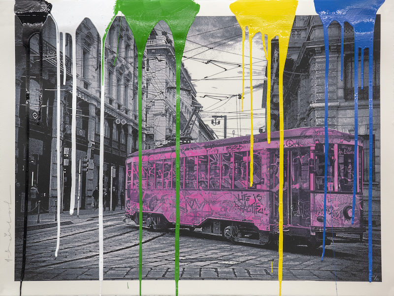 Milan Tram by Mr Brainwash